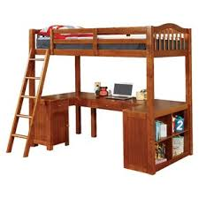 Bunk Bed With Workstation Bunk Beds Loft Beds With Desks Wayfair
