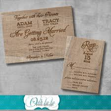 diy rustic wedding invitations wedding decorate ideas