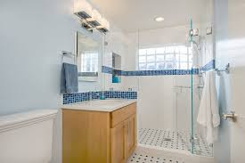 Bathroom Vanities Lights by San Francisco Glass Block Windows Bathroom Traditional With Blue