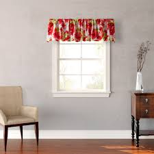 valance for living room windows with simple flower pattern for