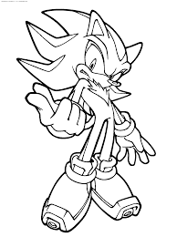 shadow the hedgehog coloring pages to download and print for free