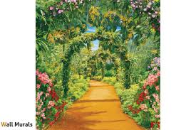mural wonderful gardens arc with flowers 3d wallpapers mural wonderful gardens arc with flowers 3d