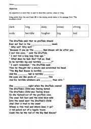 english teaching worksheets the gruffalo resources