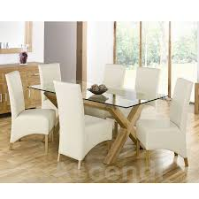Dining Table Glass Top Online Great Oak And Glass Dining Table Sets 44 About Remodel Online With