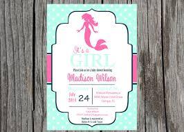 mermaid baby shower invitations