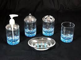 bathroom accessories sets blue interior design