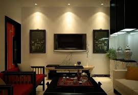 Led Lights For Room by Living Room With Wall Mounted Lcd Tv And Led Spotlights Led