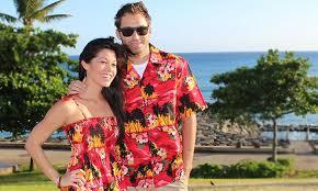 diamond head sunset matching hawaiian dresses and shirts