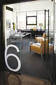 Office Glass Table Design Graphics On The Glass Walls Numbered Offices Easier To Locate