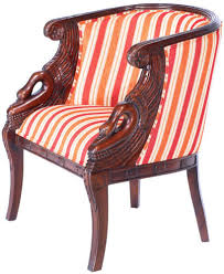 siege de style fauteuil gondole style empire napoleon a cols de cygne siege de