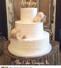 wedding cake rustic rustic buttercream wedding cake cakecentral