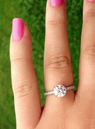 size 6 engagement ring 1 24 carat cut size 6 finger with diamonds on