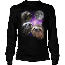 Sloth Meme Shirt - sloth three wolves moon parody meme shirt hoodie sweater longsleeve