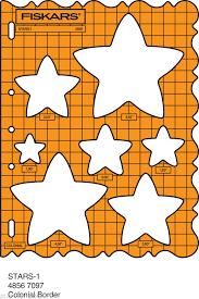 fiskars shape template stencil star stars christmas etc 4856