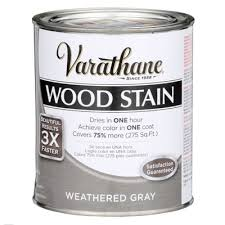 varathane 1 qt 3x weathered gray premium wood stain 267124 the