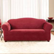 Stretch Sofa Slipcover by Sure Fit Slipcovers Stretch Pique 1 Piece Sofa Slipcover The Mine