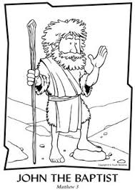 fiery furnace coloring page john the baptist coloring page john the baptist pinterest