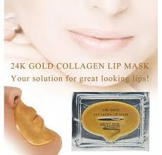 Collagen Mask 24k gold collagen lip mask skyline cosmetics