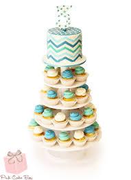 chevron birthday cupcake tower pink cake box