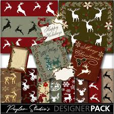 digital christmas cards christmas deer digital scrapbook kit digital christmas card front
