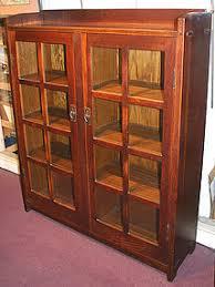 Stickley Bookcase Gustav Stickley Oak Two Door Bookcase Arts U0026 Crafts Item 1162176