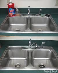 how to keep stainless steel sink shiny pinterest tested stainless steel sink cleaner thecraftpatchblog com