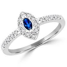 gemstone wedding rings gemstone wedding rings 3 ctw marquise cut sapphire and diamond