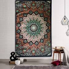 high quality indian hippie star wall hanging tapestry mandala indian hippie star wall hanging tapestry mandala bedding throw mat home decor