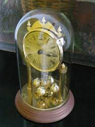 German Clocks West Germany Remington Brass Pendulum Anniversary Clock For Sale