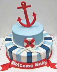 nautical baby shower cakes nautical themed baby shower cake tomorrowliving me