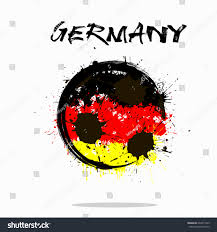 The Germany Flag Abstract Soccer Ball Painted Colors Germany Stock Vector 642811669