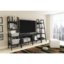 Sauder 3 Shelf Bookcase by Altra Furniture Ladder Bundle 4 Shelf Bookcase In Black Set Of 2