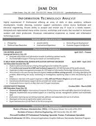 Resume Summary Paragraph Examples by It Help Desk Resume Example Technical Analyst It Support