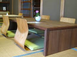 dining room modern japanese dining table with wooden dining