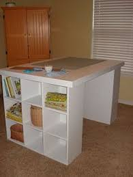 Folding Sewing Cutting Table Diy Craft Room Table With Ikea Furniture Under Budget Sewing
