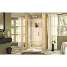 34 Shower Door Dreamline Unidoor Plus 72 X 34 Hinged Frameless Shower Door With