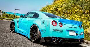 nissan gtr matte blue nissan gt r modified bright blue concept sport car design