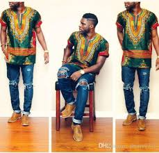 2017 2017new hipster men african fashion design traditional print