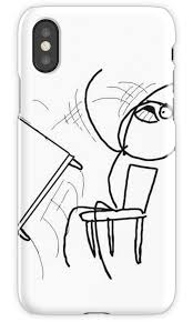 Desk Flip Meme - table flip meme rage comic flipping angry mad iphone cases covers