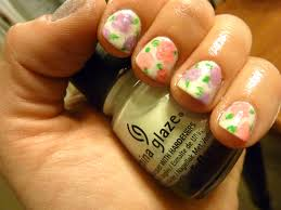 vintage spring floral nail art china glaze essie layla cosmetics