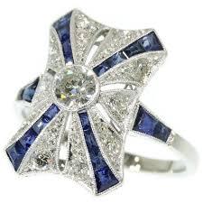 marvelous art deco belle epoque antique engagement ring diamonds