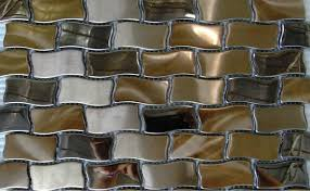 mesmerizing metallic backsplash tiles pictures decoration ideas