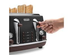 Toaster Machine Vintage Icona Black 4 Slice Toaster Delonghi New Zealand Toasters