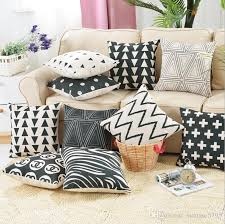 black and white triangle cushion cover zebra throw pillow case