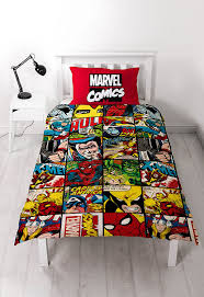 Marvel Double Duvet Cover Disney Marvel Comics Defenders Single Rotary Duvet Set Amazon Co