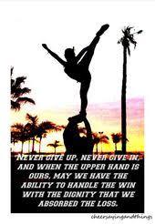 cheerleading quotes cheer sayings things cheerleading
