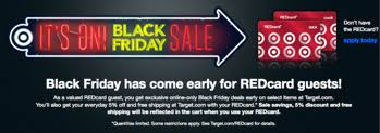 is target black friday deals available online target black friday deals online for red card members ftm