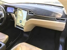 Tesla Carbon Fiber Interior 2015 Tesla Model S 85d Black Tan 29k Autopilot California