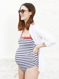 maternity swimming costume maternity anti uv swimming costume blue and white striped one