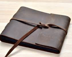 leather photo albums engraved leather guest book etsy
